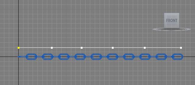 Spline ligne de contrôle IK