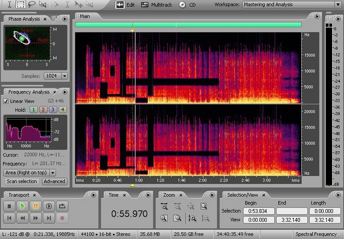 interface adobe audition