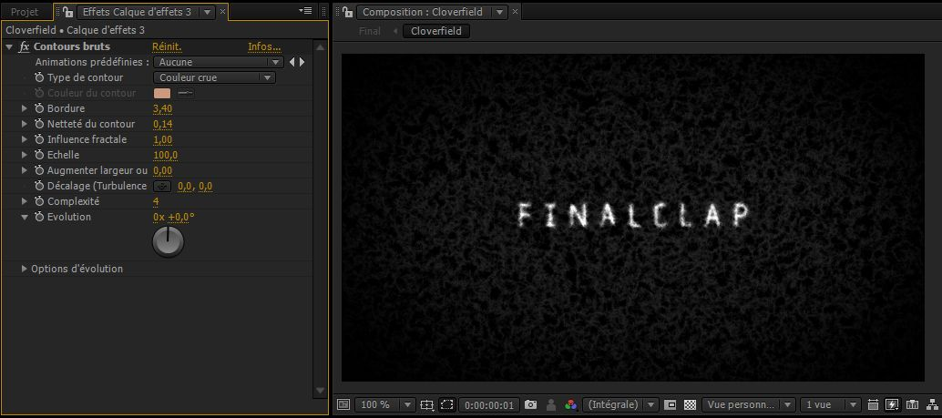Texte flou tâche d'encre After Effects