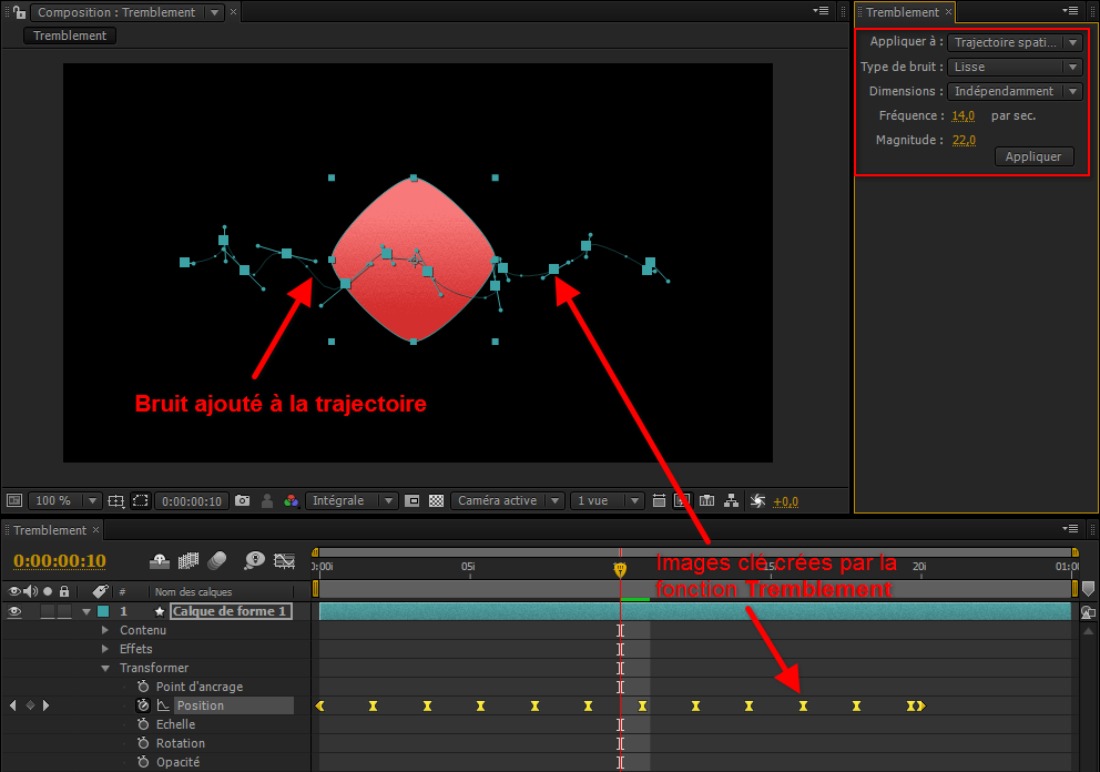 Outil tremblement After Effects CS4