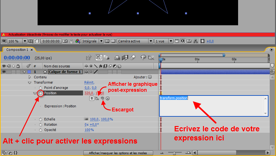 Ajouter expression After Effects