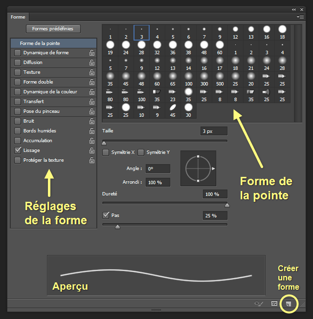 outil pinceau photoshop cs5