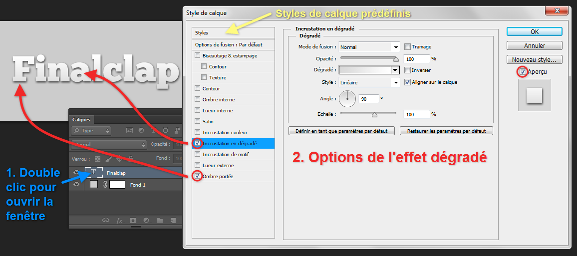style de calque photoshop cs5