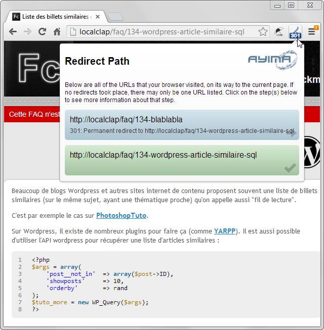 HTTP Header chrome redirect patch