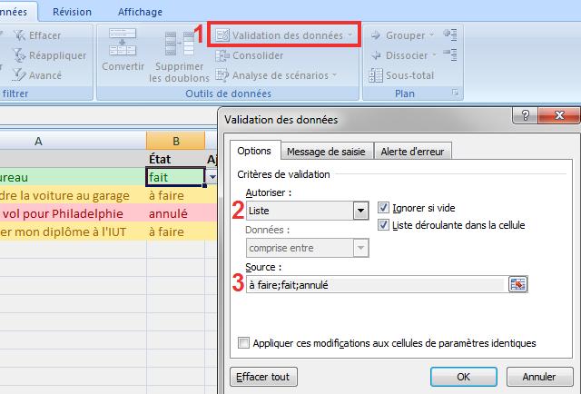 Saisie semi-automatique sur Excel 2007