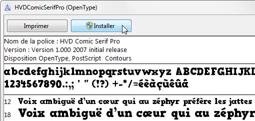 comment installer les polices Unicode dans Windows XP