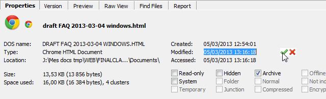 Modifier La Date De Creation Modification D Un Fichier