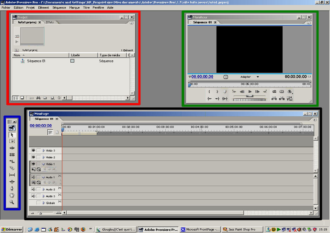 interface gui adobe premiere pro 1.5