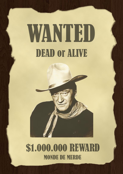 Affiche Western Quot Wanted Quot