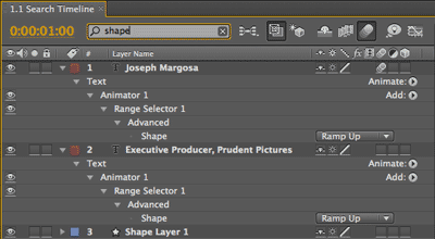 After Effects CS4 Quick search