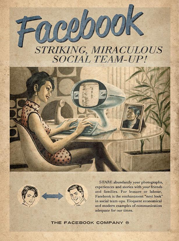 Affiche Facebook vintage